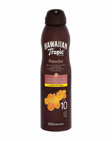 HAWAIAN TROPIC  DRY OIL SPRAY SPF 10 COCCO MANGO 180ML